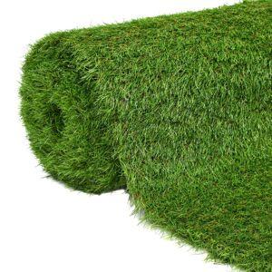 vidaXL Umelý trávnik 1,33x10 m/40 mm, zelený