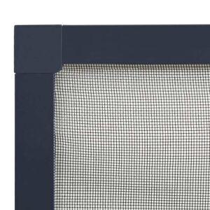 vidaXL Okenná sieťka proti hmyzu antracitová 130x150cm