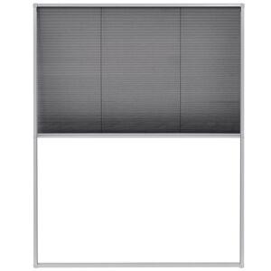 vidaXL Plisovaná okenná sieťka proti hmyzu, hliník 100x160 cm