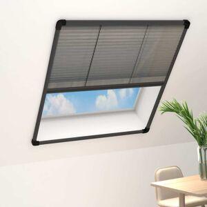 vidaXL Plisovaná okenná sieťka proti hmyzu, hliník, antracit 80x160 cm
