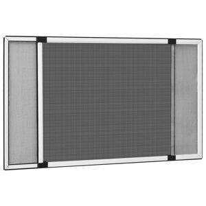 vidaXL Výsuvná okenná sieťka proti hmyzu biela (100-193)x75 cm