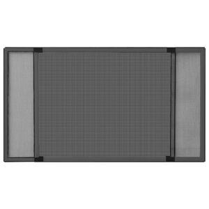 vidaXL Výsuvná okenná sieťka proti hmyzu antracitová (100-193)x75 cm