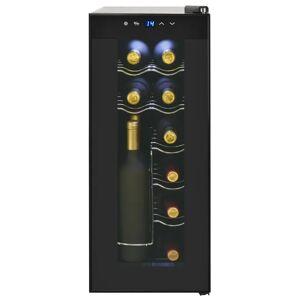 vidaXL Chladnička na víno/barová chladnička, 35 l, 12 fliaš, LCD displej