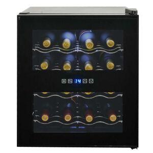 vidaXL Chladnička na víno/barová chladnička, 48 l, 16 fliaš, LCD displej