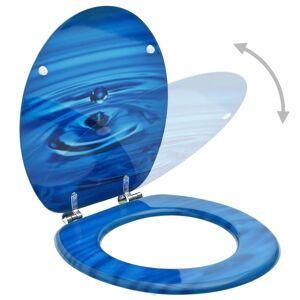 vidaXL WC sedadlo s poklopom MDF modrý dizajn s kvapkou