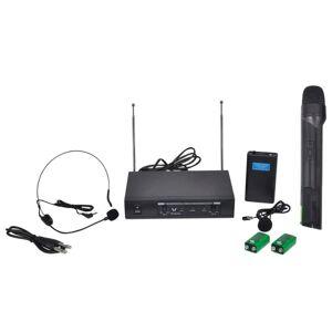 vidaXL Bezdrôtový mikrofón a bezdrôtové slúchadlá VHF s prijímačom