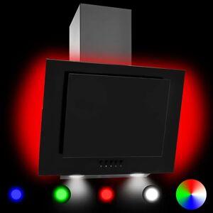 vidaXL RGB Nástenný digestor s LED 60 cm nehrdzavejúca oceľ a tvrdené sklo
