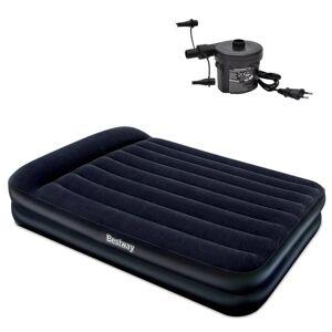 Bestway Semišová nafukovacia posteľ+externá pumpa 203x157x47 cm