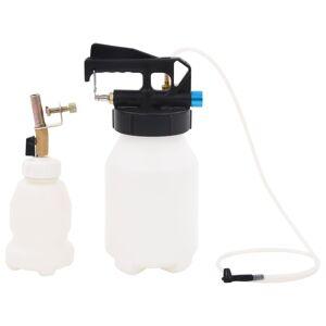 vidaXL Pneumatická odsávačka na odvzdušnenie bŕzd s plniacou fľašou 3,5 l