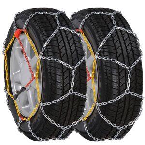 vidaXL 2 ks snehových reťazí na pneumatiky, 12 mm, KN 80