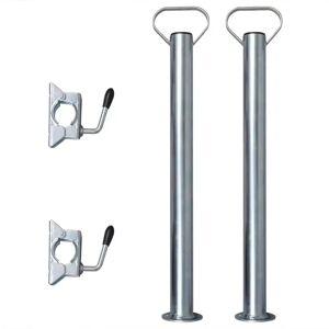 vidaXL 2 oporné nohy a 2 svorkové držiaky na 48 mm oporné koleso