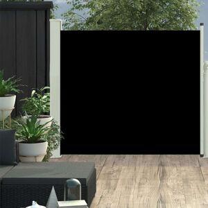 vidaXL Zaťahovacia bočná markíza na terasu 100x300 cm, čierna