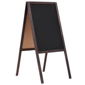 vidaXL Obojstranná voľne stojaca tabuľa z cédrového dreva 40x60 cm