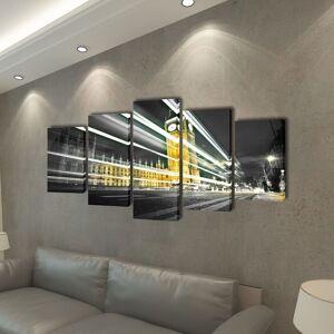 vidaXL Sada obrazov na stenu, motív Londýn Big Ben 100 x 50 cm