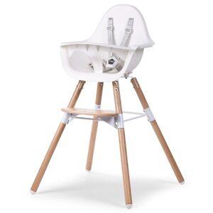 """CHILDWOOD 2-v-1 Detská stolička """"Evolu 2"""", biela, CHEVOCHNW"""