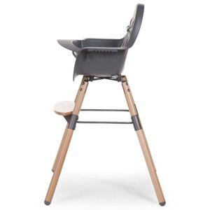 """CHILDWOOD 2-v-1 Detská stolička """"Evolu 2"""", antracitová, CHEVOCHNA"""