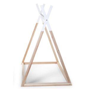 CHILDWOOD Posteľný rám típí 70x140 cm, drevo, prírodná+biela B140TIPI