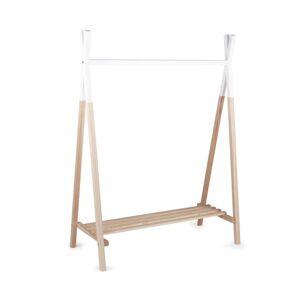 CHILDWOOD Stojanový vešiak na oblečenie v štýle típí, prírodno-biely, CLSTIPI