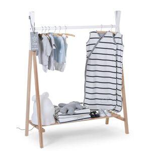 CHILDHOME Vešiak na oblečenie v tvare típí, prírodný a biely CLSTIPI