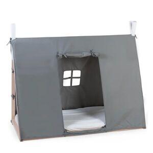 CHILDHOME Posteľná plachta v tvare típí 70x140 cm šedá