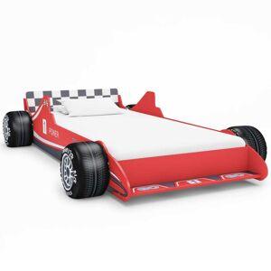 vidaXL Detská posteľ pretekárske auto 90x200 cm červená