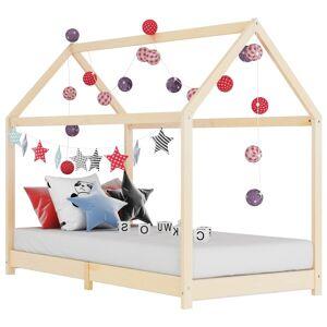 vidaXL Detský posteľný rám 90x200 cm borovicový masív