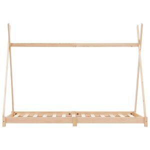 vidaXL Detský posteľný rám masívne borovicové drevo 90x200 cm