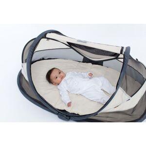 DERYAN Skladacia cestovná postieľka Baby Luxe so sieťou proti komárom krémová