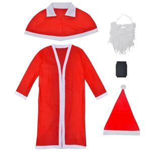 vidaXL Vianočný kostým Santa Clausa s dlhým kabátom