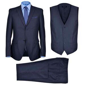 vidaXL Pánsky oblek Business s vestou, veľkosť 46, námornícka modrá