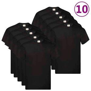 Fruit of the Loom Originálne tričká 10 ks čierne XXL bavlnené