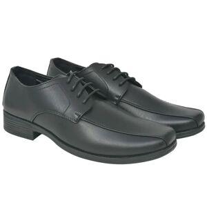vidaXL Pánske šnurovacie topánky, čierne, veľkosť 43, PU koža