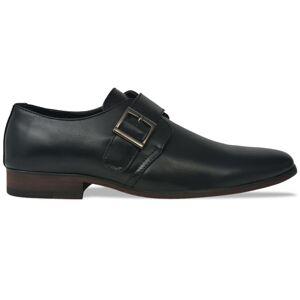 vidaXL Pánske topánky s prackou, čierne, veľkosť 41, PU koža