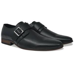 vidaXL Pánske topánky s prackou, čierne, veľkosť 42, PU koža