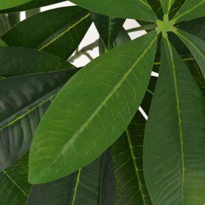 vidaXL Umelá rastlina, pachira s kvetináčom 85 cm, zelená