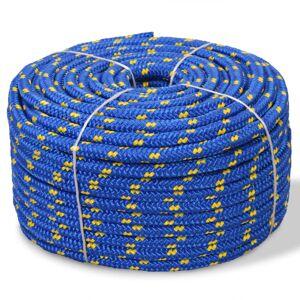 vidaXL Lodné lano, polypropylén, 10 mm, 50 m, modré