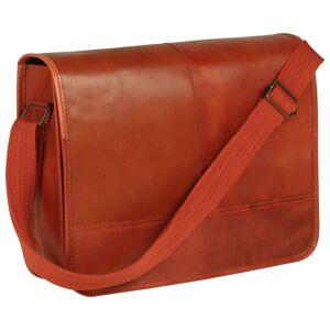 vidaXL Messenger taška žltohnedá pravá koža