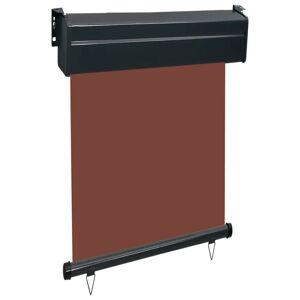 vidaXL Bočná markíza na balkón 60x250 cm, hnedá