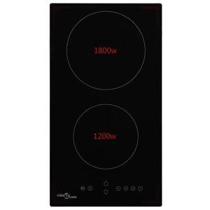 vidaXL Keramická varná doska s 2 platničkami dotykové ovládanie 3000 W