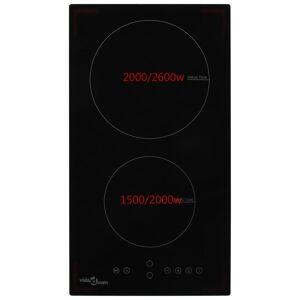 vidaXL Indukčná varná doska s 2 platičkami dotyové ovládanie sklo 3500 W