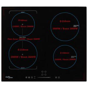 vidaXL Indukčná varná doska, 4 platničky, dotykové ovládanie 7000 W