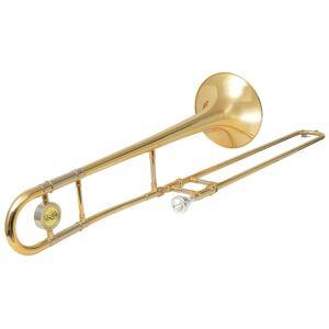 vidaXL Trombón, žltá mosadz so zlatým lakom, Bb