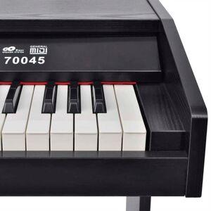 vidaXL Digitálny klavír s 88 klávesami a pedálmi, čierny melamín