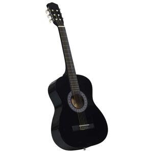 """vidaXL Klasická gitara pre začiatočníkov s taškou čierna 3/4 36"""""""