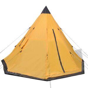 vidaXL Stan pre 4 osoby, žltý