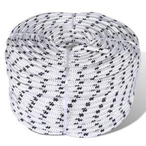 vidaXL Spletané lodné lano, polyester 6 mm x 50 m