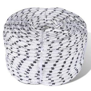vidaXL Spletané lodné lano, polyester 14 mm x 50 m