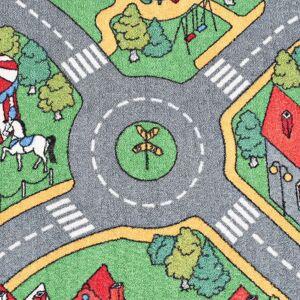 vidaXL Podložka na hranie, všívaná 120x160 cm, motív mesta a ciest