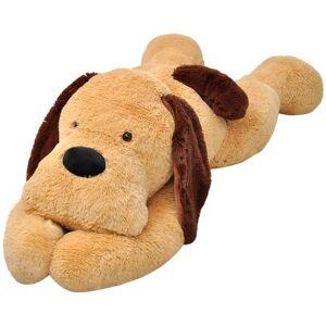 vidaXL Hračka hnedý plyšový psík, 80 cm