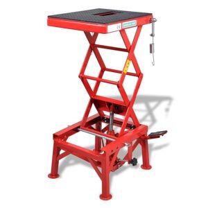 vidaXL Červený zdvyhák pre motocykel , 135 kg